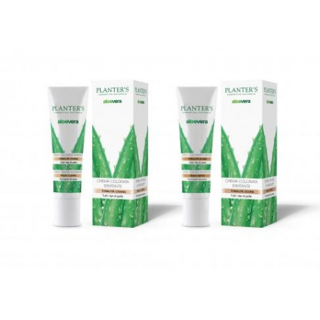 PLANTER'S - Crema colorata idratante Aloe Vera tonalità scura 30 ml