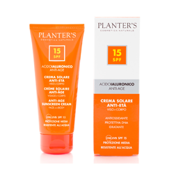 PLANTER'S - Crema Solare SPF 15 all'Acido Ialuronico 100 ml