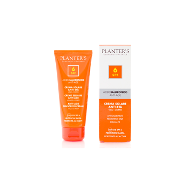 PLANTER'S - Crema Solare SPF 6 all'Acido Ialuronico 100 ml