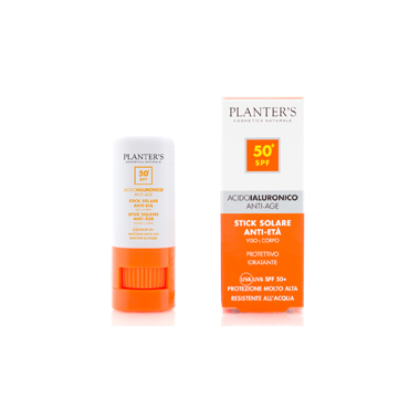 PLANTER'S - Stick Solare SPF 50+ all'Acido Ialuronico 9 gr